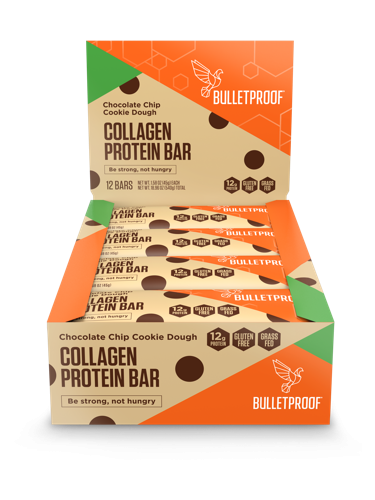 Bulletproof Chocolate Chip Cookie Dough Collagen Protein Bars
