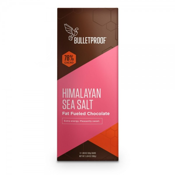 Bulletproof Chocolate Fuel Bars - Himalayan Sea Salt - (3er Pack)