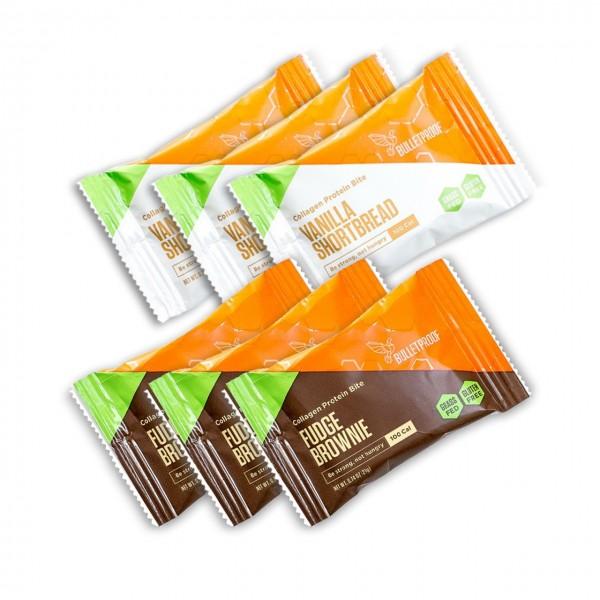 Probierpack: 3 Fudge Brownie & 3 Vanilla Protein Bites