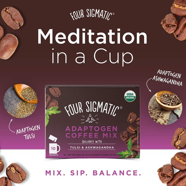 Four Sigmatic Adaptogen Coffee Mix mit Tulsi & Ashwagandha