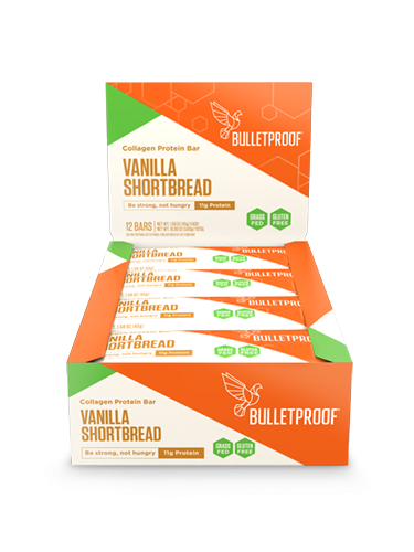 Bulletproof Vanilla Shortbread Collagen Protein Bars (12er Pack)