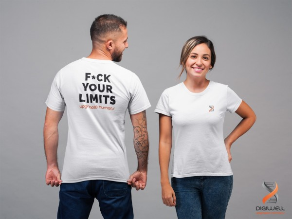 "Upgraded Shirts - ""F*CK YOUR LIMITS"" - white"