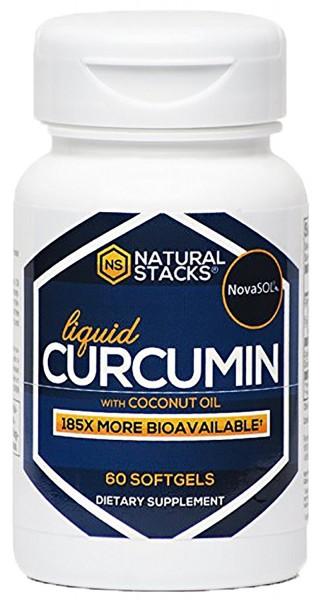 Natural Stacks Curcumin mit Kokosnussöl (60 Stk.)