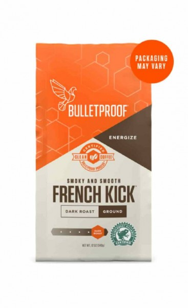 Bulletproof 'French Kick' Coffee - dunkel-gerösteter gemahlener Kaffee, 340g