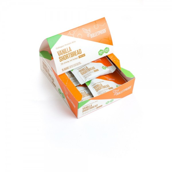 Bulletproof Protein Bites Vanilla Shortbread (15er Pack)