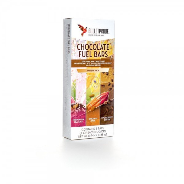 Bulletproof Chocolate Variety Fuel Bars - (3er Pack)