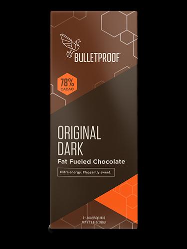 Bulletproof Chocolate Fuel Bars - Original Dark (3er Pack)